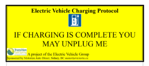 Salt Spring Island Etiquette Card unplug if charge complete