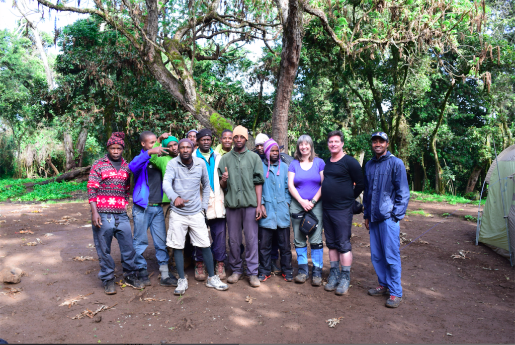 Georgia and Gary had 12 local porters on their guided trek to Mount Kilimanjaro in December, 2015. Photo credit: Georgia Newsome