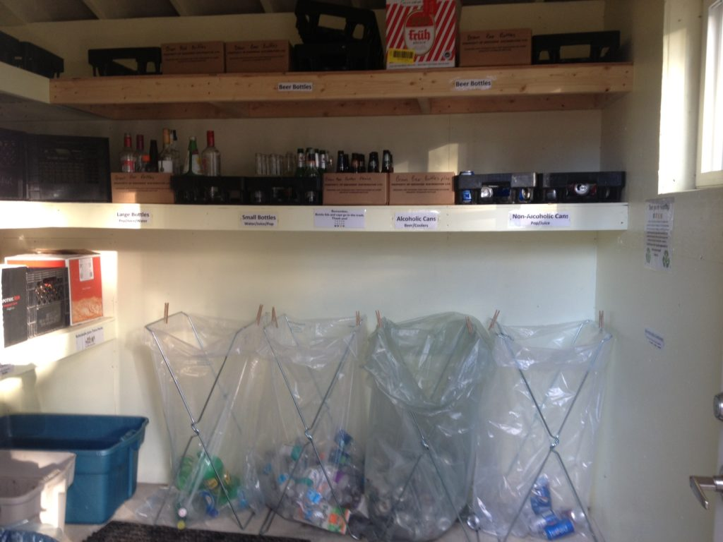 Rooms and common areas have extremely user-friendly recycling facilities (Photo credit: Cedar House Chalets)