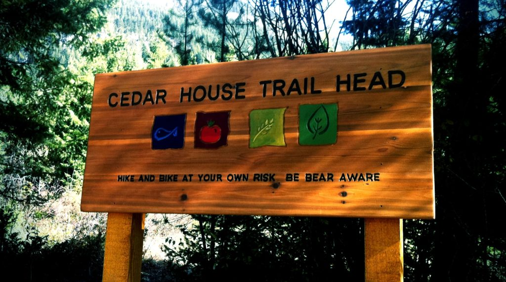 They maintain the grounds and trail networks around The Cedar House and promote active transportation such as cycling (Photo credit: Cedar House Chalets)