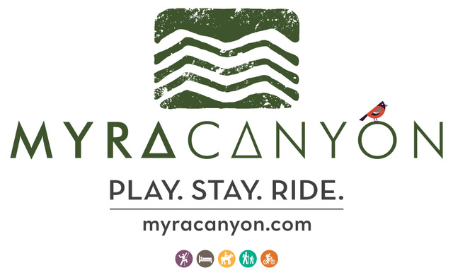 image of the logo for Myra Canyon Ranch in Kelowna, British Columbia, Canada