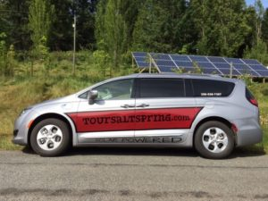 Sustainable Tourism member Tour Salt Spring solar powered van